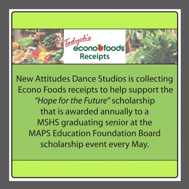 new attitudes dance scholarships econo foods receipts