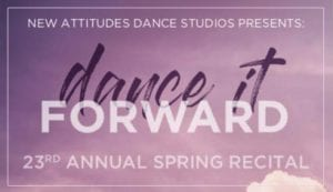 new attitudes spring recital program advertisers fundraiser