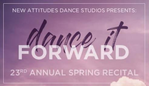 new attitudes spring recital program advertisers fundraiser