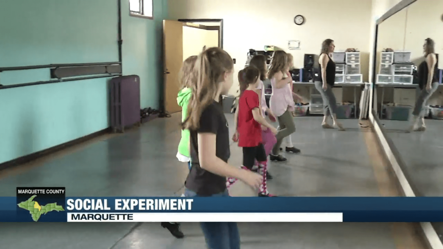 new attitudes dance studio marquette tv6 social experiment