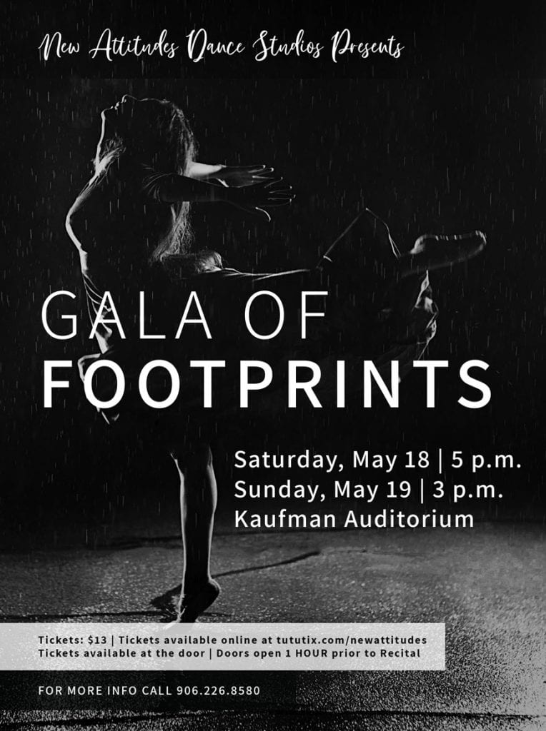 new attitudes dance studios annual spring recital gala of footprints