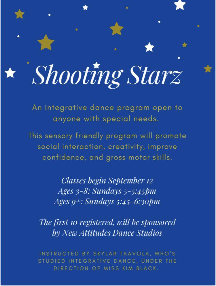 shooting starz sensory friendly dance